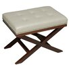 Cortesi Home Kayla X Bench Ottoman