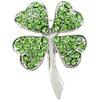 Fantasyard 4 Leaf Clover Flower Crystal Brooch