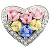 Fantasyard Mother's Day and Valentine Heart Crystal Brooch