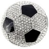 <strong>Fantasyard</strong> Black and White Soccer Ball Sports Crystal Brooch