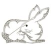 <strong>Fantasyard</strong> King Hare Rabbit Animal Crystal Brooch