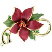 <strong>Fantasyard</strong> Poinsettia Christmas Star Flower Crystal Pin Brooch Pendant