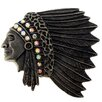 Fantasyard Native American Indian Chief War Bonnet Crystal Brooch
