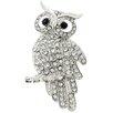 <strong>Fantasyard</strong> Owl Bird Crystal Brooch