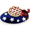 <strong>Fantasyard</strong> July 4th Hat American Flag Perovskia Crystal Brooch