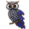 <strong>Fantasyard</strong> Owl Crystal Pin Brooch