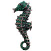 <strong>Fantasyard</strong> Seahorse  Animal Crystal Pin Brooch