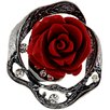 Fantasyard Rose Crystal Brooch