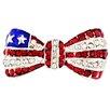 Fantasyard American Flag Bowknot Lapel Crystal Brooch