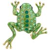 Fantasyard Frog Animal Perovskia Crystal Brooch