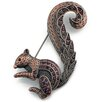 <strong>Fantasyard</strong> Squirrel Animal Crystal Pin Brooch