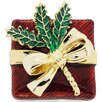 <strong>Fantasyard</strong> Gift box with Bow Christmas Crystal Brooch