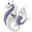 <strong>Fantasyard</strong> Tanzanite Seahorse and Mermaid Crystal Brooch