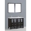 "Bosconi Contemporary 48"" Double Bathroom Vanity Set with Mirror"