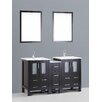"""Bosconi Contemporary 60"""" Vanity Set with Double Sink"""