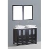 "Bosconi Contemporary 48"" Vanity Set with Double Sink"