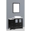 "Bosconi Contemporary 42"" Vanity Set with Single Sink"