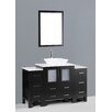 "Bosconi Contemporary 54"" Vanity Set with Single Sink"