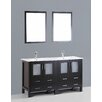 "Bosconi Contemporary 60"" Vanity Set with Double Sink"