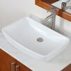 <strong>Elite Home Products</strong> Grade A Ceramic Finsbury Shaped Bowl Vessel Bathroom Sink