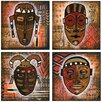 <strong>Thirstystone</strong> 4 Piece Tribal Mask Occasions Coasters Set