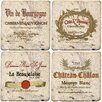 <strong>4 Piece Wine Labels Travertine Ambiance Coaster Set (Set of 4)</strong> by Thirstystone