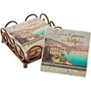 Thirstystone 5 Piece Italian Inspirations Bottled Poetry Ambiance Coaster Gift Set