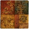 <strong>Thirstystone</strong> Organic Montage I Travertine Ambiance Coaster Set (Set of 4)