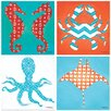 Thirstystone 4 Piece Sealife Occasions Coasters Set