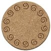 <strong>Swirls Cork Coaster (Set of 6)</strong> by Thirstystone