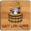 Thirstystone Isn't Life Grape Bamboo Coaster (Set of 4)