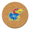 Thirstystone University of Kansas Cork Collegiate Coaster Set (Set of 6)