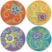 Thirstystone 4 Piece Gypsy Blossoms Coaster Set