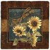 Thirstystone Sunflower Farm Travertine Ambiance Coaster Set (Set of 4)