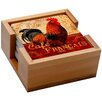 Thirstystone 5 Piece Cafe Francis Rooster Ambiance Coaster Gift Set