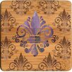 <strong>Thirstystone</strong> Fleur de Lis Bamboo Coaster (Set of 4)