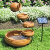 <strong>Solar Terracotta Cascading Fountain</strong> by Koolatron