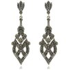 <strong>Silver Overlay Marcasite Dangle Earrings</strong> by Gem Jolie