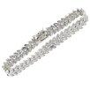 <strong>Gem Jolie</strong> 18k Gold Overlay Diamond Accent Leaf Link Bracelet