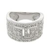 Gem Jolie Silver Overlay Diamond Accent Ring