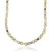<strong>Gem Jolie</strong> Two-tone Multi-gemstone and Diamond Accent 'XO' Necklace