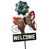 River Cottage Gardens Butterfly with Flower Welcome Stake