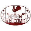 River Cottage Gardens Rooster Welcome Wall Décor