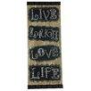 River Cottage Gardens Live Laugh Love Life Textual Art Plaque