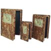 River Cottage Gardens 3 Piece Old Fashioned Book Decor