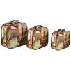River Cottage Gardens 3 Piece Paris Decorative Suitcase Set