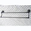 "Kingston Brass Water Onyx 24"" Wall Mounted Dual Towel Bar"