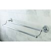 "<strong>Kingston Brass</strong> Georgian 24"" Wall Mounted Dual Towel Bar"