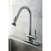 Kingston Brass Green Eden Single Lever Handle Kitchen Faucet with Spring spout