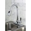 Kingston Brass Kaiser Gourmetier Single Handle Pull-Down Spray Kitchen Faucet